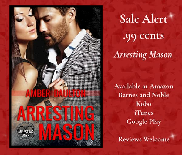 Text in image: Sale alert, 99 cents, Arresting Mason by Amber Daulton